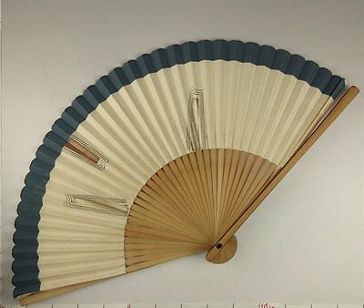 YU162 SENSU Japanese Fan Art painting Nihonga Picture Traditional crafts Vintage