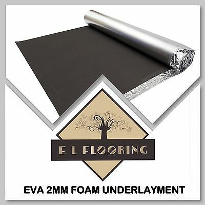 EVA 2mm High Density Underlay with Vapour Barrier for Click LVT/Laminate Floors