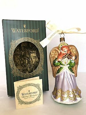 Waterford Holiday Heirlooms Glass Angel Christmas Tree Ornament Poland In Box