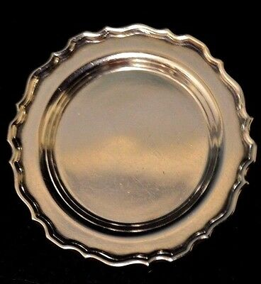 "Miniature Sterling Silver Tray Dollhouse 1:12 William B. Meyer approx 1 5/8"" W"