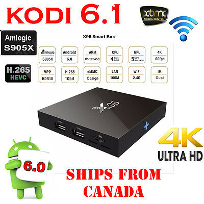 X96 4K Smart TV Box with Kodi 16.1 Android 6.0 Amlogic S905X Quad Core 2G/16G