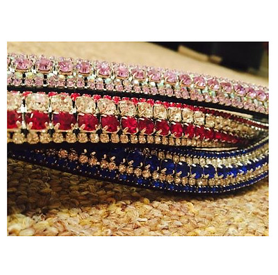 Ultimate Crystal 5 Row Browbands *MULTIPLE* Colours