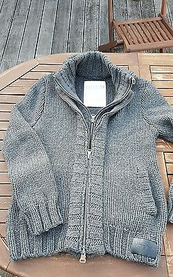gilet homme double zip Superdry tricot XL