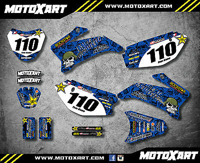 Full Custom Graphic Kit METAL STYLE Yamaha TTR 110 - All years - stickers decals