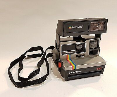 POLAROID SUPERCOLOR 635 Vintage Instant Film Camera TESTED WORKING