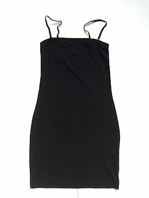 COS *NEW* BLACK STRETCHY JERSEY BANDEAU SLIP DRESS w/ DETACHABLE STRAPS S 8-10