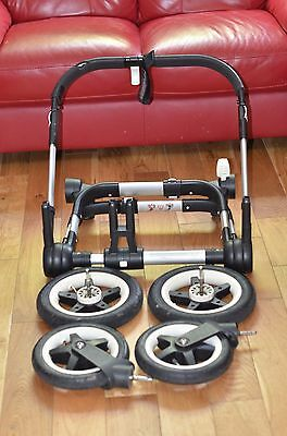 Bugaboo Donkey V1.1 Silver Chassis with all wheels