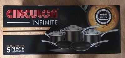 Circulon Infinite Hard Anodised Cookware Set, 5-Piece - Black