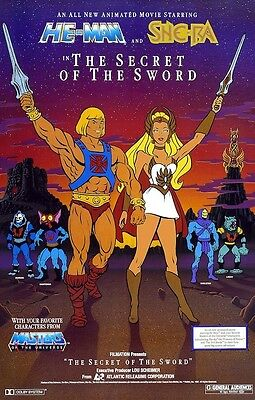 He-Man & She-Ra POSTER Masters of the Universe MOTU Rare Big