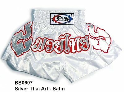 FAIRTEX AUSTRALIA Genuine Fairtex Muay Thai Boxing Shorts BS0607 Silver