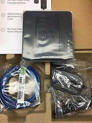 Cisco Small Business SPA122 Ata w/Router Adapter Spa122-RC BRAND NEW BOXED