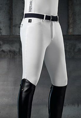 Equiline Men's Willow X-Grip Knee Patch Breeches White Size EU48
