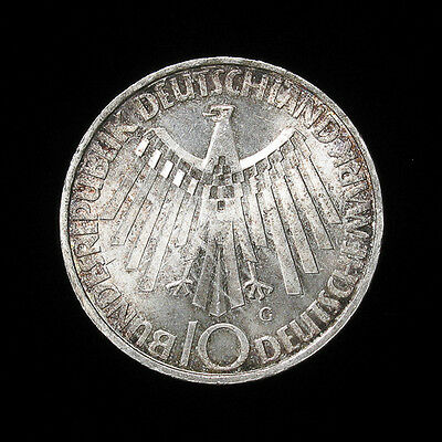 1972-G Germany 10 mark silver coin Uncirculated Munich Olympics