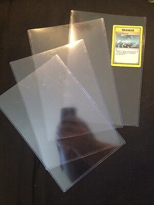 Lot Of 4 Oversized Jumbo Plastic Toploader Case Pokemon Storage Protection New!