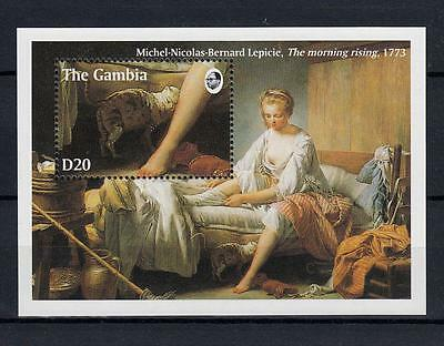 Gambia 1994 MNH Cats Painting Lecpicie Mini Sheet #A1026