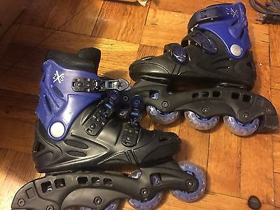 Boys Girls Youth Roller Blades Size 1  2XS Inline Skates blue $