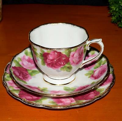 *  Vintage Royal Albert Old English Rose Trio, Cup, Saucer & Plate. Countess