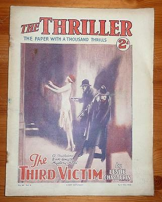 THE THRILLER No 62 Vol 2 12TH APRIL 1930 THE THIRD VICTIM BY LESLIE CHARTERIS