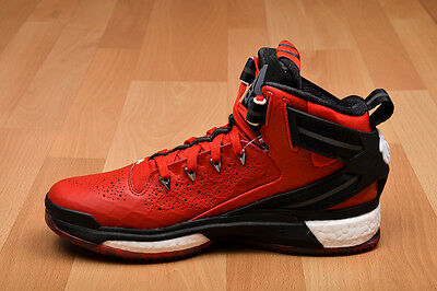 adidas d rose 6 boost red and black leather version UK 10 basketball shoes