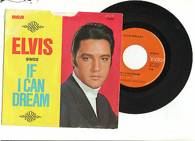 ELVIS PRESLEY IF I CAN DREAM EDGE OF REALITY 45rpm RECORD PICTURE SLEEVE USA OOP