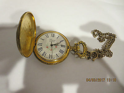 Vintage Very Rear Collectable Lucerne Pocket Watch 17 Jewels Need Servicing