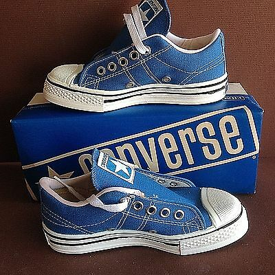 5 Pair LOT, 1975 Vintage USA Made Converse, Light Blue and Navy Blue