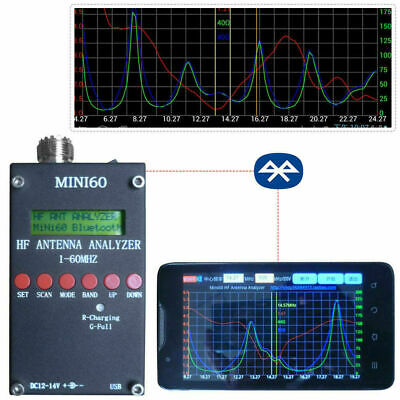 New Mini60 Sark100 HF ANT SWR Antenna Analyzer Meter Bluetooth Android APP