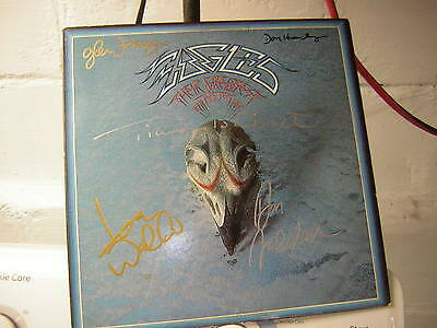 The Eagles Signed Lp Greatest Hits 1976 X5 Henley Frey