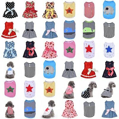 Pet Puppy Small Dog Cat Dog Clothes Summer T-Shirt Coat Vest Pet Apparel Costume