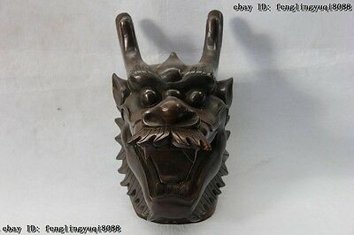 10 Chinese old Copper Bronze Famous shuxiang Twelve Zodiac Dragon Head Statue