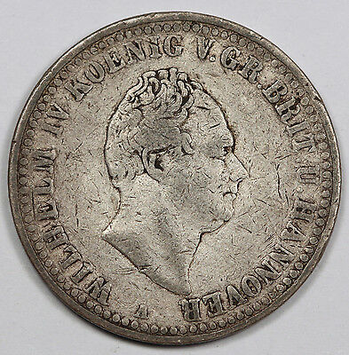 1836 A GERMANY HANNOVER Thaler/Taler Silver Coin Fine KM#169 German States
