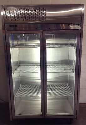 WILLIAMS stainless 2 Door Upright Glass Display Commercial Fridge