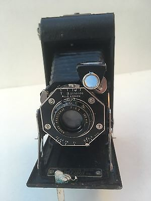 ANCIEN APPAREIL PHOTO CAMERA KODAK KODON 100 mm F 6.3 FOLDING. SOUFFLET