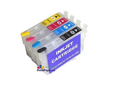 4 Empty Refillable Ink Cartridge for Epson 252/XL Non-OEM WF-3620 WF-3640