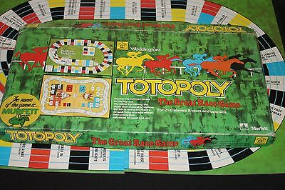 Vintage Totopoly Board Game - The Great Horse Race Game Waddingtons/Murfett