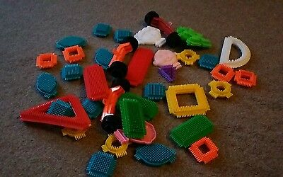 Sticklebricks/stickle Bricks - Bundle Of (37) Bricks