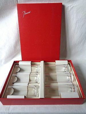 Baccarat Perfection 6 Highball Whiskey Glasses Verres Gobelet A Whisky Cristal