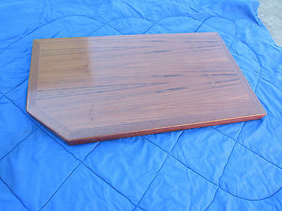 NEW - Varnished timber table top. High quality unused item 1000mm x 560mm x 50