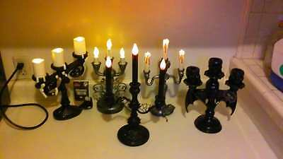 LOT OF 5 DIFFERENT  HALLOWEEN CANDELABRAS. Unique/classy Halloween decorations.