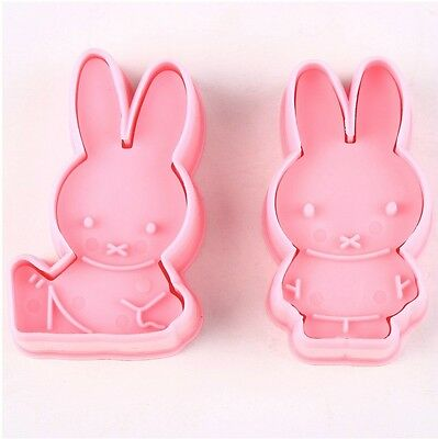 Miffy Rabbit Sugarcraft Cake Tool Fondant Cookie Cutter Biscuit Mold Plunger AB