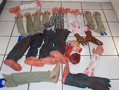 Halloween prop LOT OF 23 BODY PARTS. Some new. Huge amount for HALLOWEEN.
