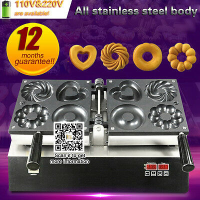 4 in 1 commercial electric donut machine for shop,restaurant with 4 shape donut