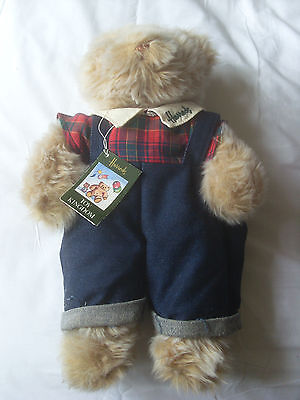 Harrods Teddy Bear In Dungarees