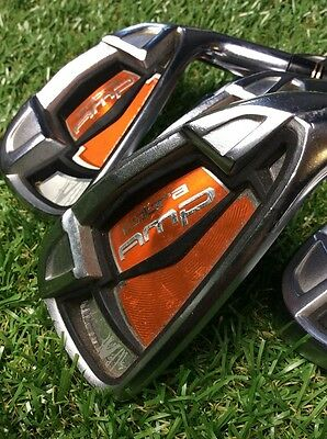 Cobra Amp Irons 4-9 & Sw Reg Flex Graphite Shafts