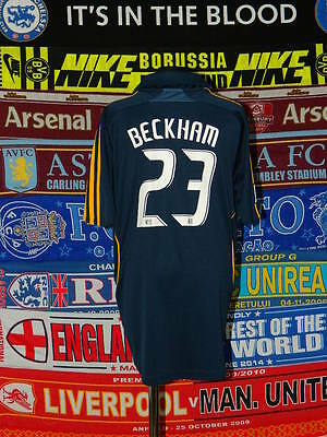 4/5 LA Galaxy boys 13/14 yrs 164cm Beckham football shirt jersey trikot soccer