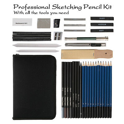 40pcs Drawing Sketch Set Charcoal Pencil Eraser Art Painting Sketching Kit AC788