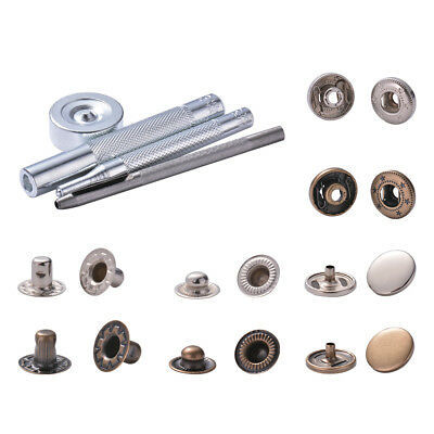 15mm Snap Button Press Stud Popper Rivet Fastener Tool for DIY Sew Leather CR019