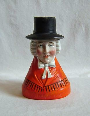"Vintage Porcelain Toby Jug  -  Welsh Woman in Hat ""ychydig o laeth""  c.20th"