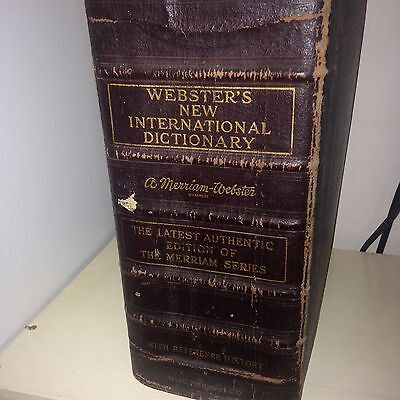 Websters New International Dictionary 1934 edition