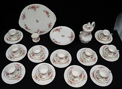Royal Albert Moss Rose Kaffeeservice 37 tlg 11 Pers